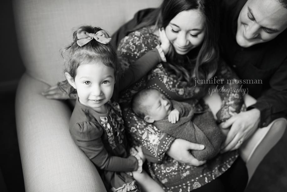 Newborn Sibling Family Portrait